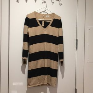 Madewell Wallace coffee and black sweater dress